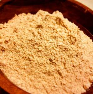 Raw homemade farro flour!